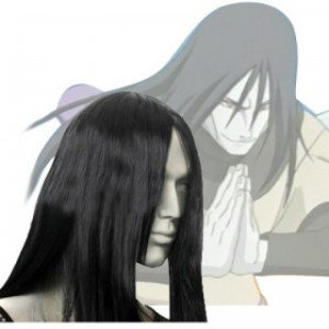 Japan Anime Naruto Orochimaru Cosplay Wig