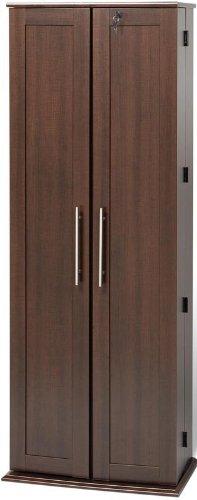 Large Deluxe Storage with Locking Shaker Doors Espresso
