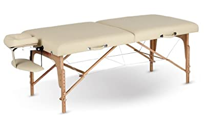 "31"" Wide Massage Table with Memory Foam - Cream"