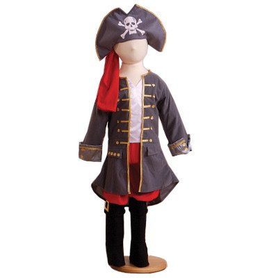 Captain Pirate (Deluxe) - Kids Costume 3 - 5 years