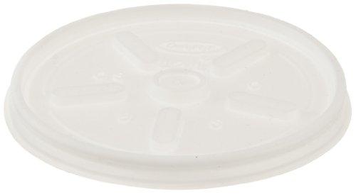 Dart 12JL Plastic Lids, for 12oz Hot/Cold Foam Cups, Vented (Case of 1000)