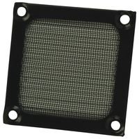 Qualtek Electronics Corp. 06250-B Filter; 06 Series; 2-1/2 In. Fan; Aluminum; Black; 2.36 In. H X 0.138 In. W