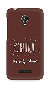 AMEZ chill its only chaos Back Cover For Micromax Canvas Spark Q380