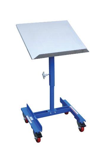 "Vestil Wt-2221 Mobile Tilting Work Table, Steel, 150 Lbs Capacity, 21"" Length X 22"" Width Platform, 2"" Lip Height"