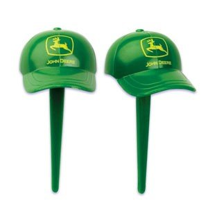 John Deere Baseball Cap Cupcake Picks - 12ct