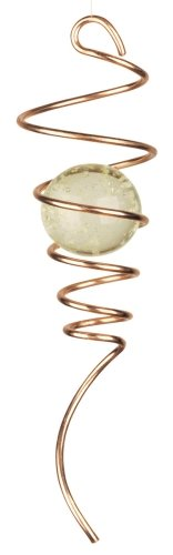 Red Carpet Studios Cyclone Tail Wind Spinner, 11-Inch Long, Copper with Glow-in-the-Dark Marble