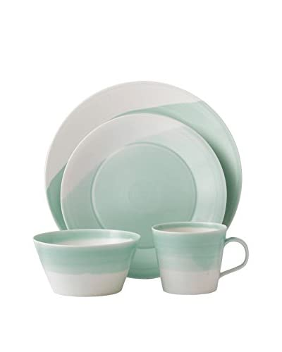 Royal Doulton 1815 4-Piece Bright Colors Dinnerware Set, Green