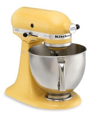 Remanufactured KitchenAid RRK150BF Artisan Series 5-Quart Stand Mixer, Buttercup Yellow Promo Offer