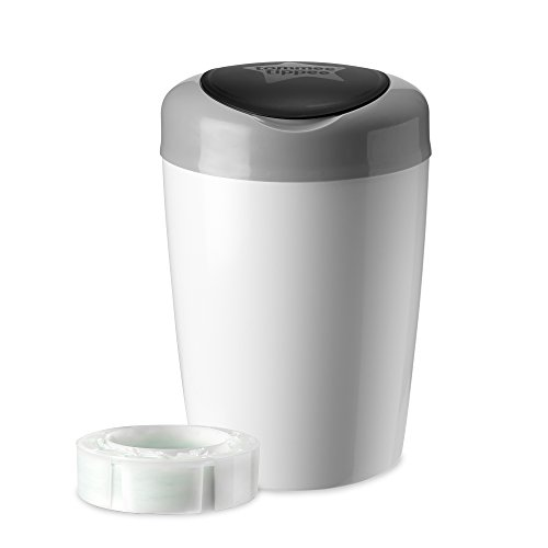 Tommee Tippee Simplee Diaper Pail with 1 Refill, Grey