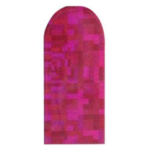 ネイルシール 24ブリックス ジオメトリック 2セット ホロピンク・HOLS007