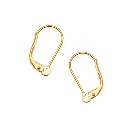 Beadaholique Earring Findings Lever Backs, 22K Gold Plated,