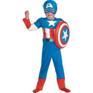 Captain America Toddler Muscle
