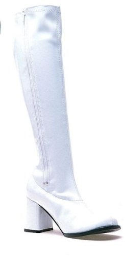 Women's Shoes 3 Inch Gogo Boots With Zipper (White;11) (White Gogo Boots Cheap)