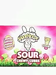WarHeads Sour Chewy Cubes Ltd Edition Easter Flavors (Pack of 4)