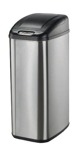 Nine Stars DZT-50-6 Infrared Touchless Stainless Steel Trash Can, 13.2-Gallon (Nine Stars Trash Can Lid compare prices)