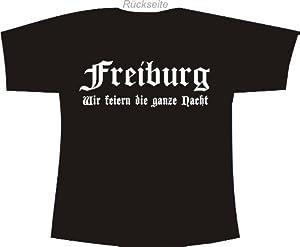 Freiburg - Wir feiern die ganze Nacht; Polo T-Shirt schwarz