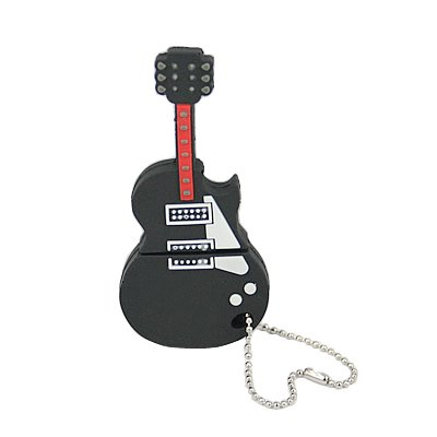 Black Guitar 4GB Flash Drive