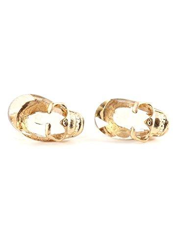 Crystal Skull Stud Earrings Gold Tone Skeleton Posts Ei40 Fashion Jewelry
