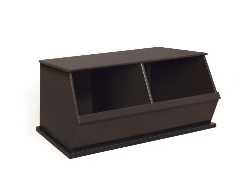 Badger Basket Two Bin Storage Cubby, Espresso