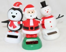 Solar Powered Dancing Snowman, Penguin, and Santa (3-pack) - 1