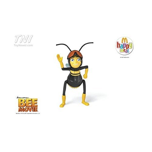 2007 McDonald's Bee Movie Pollen Jock Barry Talking Happy Meal Toy #1 - 1