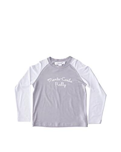 Château de Sable Camiseta Manga Larga Max L/S Raglan T Shirt W/Applique Lt Blue Gris 10 años (140 cm)