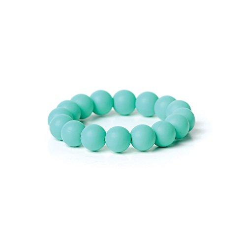 Nixi Tondo Teething Bracelet, Turquoise