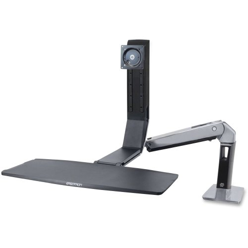 Ergotron, Workfit-A Single Ld Stand ( Tray, Articulating Arm, Desk Clamp Mount, Pivot ) For Lcd Display / Keyboard