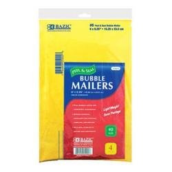 BAZIC Self Sealing Bubble Mailers, 6 x 9.25 Inch, 4 Per Pack - 1