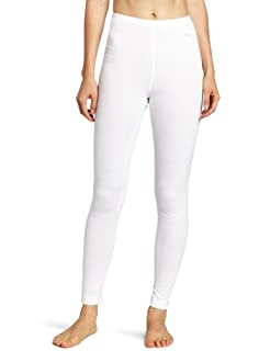 Duofold Women's Thermal Mid Weight Wicking Bottom, White, Small