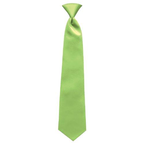 Lime Green Satin Mens Pre-Tied Neck Tie