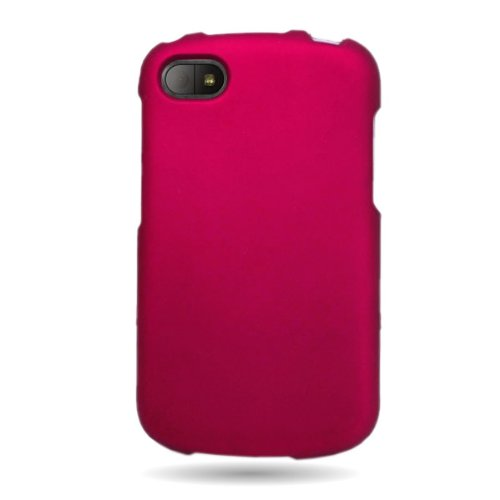 Coveron(Tm) Matte Snap-On Rose Pink Rubberized Hard Case Cover For Blackberry Q10 Att / Verizon / Sprint With Pry-Triangle Case Removal Tool [Wcm519]