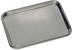 Flat Type Instrument Trays: Stainless steel 15 1/8