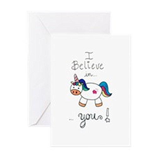 CafePress-I-Believe-In-YOU-UNICORN-Greeting-Cards-Greeting-Card-Note-Card-with-Blank-Inside-Birthday-Card-or-Special-Occasion-Matte