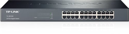 TP-LINK TL-SG1024  10/100/1000Mbps 24-Port Gigabit 19-inch Rackmountable Switch, 48Gbps Capacity