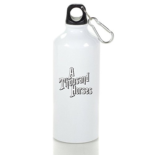 A Thousand Horses Logo Sports Water Bottle White (Ns 1000 compare prices)