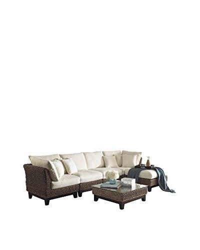 Panama Jack Sanibel 6-Piece Sectional Set With Cushions, Antique