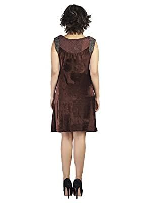 SOIE Women's Velvet Shift Dress by Ginza Industries Limited