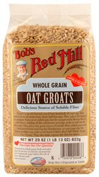 Bob's Red Mill - Whole Grain Oat Groats, Delicious Source of Fiber, one 29 Ounce bag