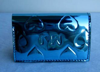 Marc by Marc Jacobs Limited Edition Heart Card Case Wallet Blue