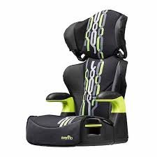 Evenflo Big Kid Sport Booster Car Seat, Jake Black front-62250