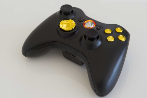 Gold Buttons 17 Modes Drop Shot, Quick Scope, Auto Aim, Dual Rapid Fire, Reprogrammable Xbox 360 Modded Rapid Fire Controller For Cod Ghost Mw3 Black Ops Mw 2 With Gold D-Pad And Orange Led
