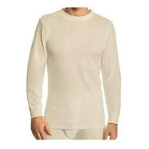 Fruit of the Loom Men's Thermal Knit Crew Top - Natural (Large)