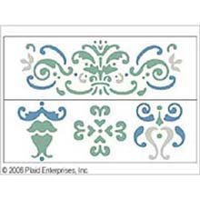 Plaid 17467 Simply Stencil, Damask front-964043