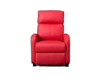 Sessel Relax Ari manuell Haus Wohnzimmer rot Kunstleder