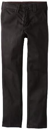 Dickies Big Girls' Stretch Skinny Straight Pant, Black, 7