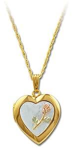 Landstroms Black Hills Gold Heart Locket with Mother Of Pearl - PE799
