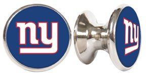 New York Giants NFL Stainless Steel Cabinet Knob / Drawer Pull (Nfl Fan Pull compare prices)