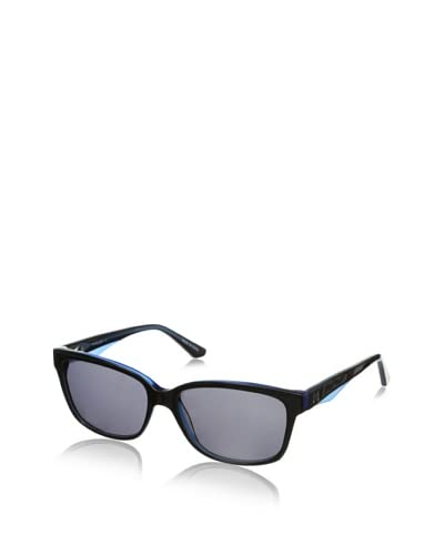 Thierry Mugler Women's TR2001 Sunglasses, Black/Blue