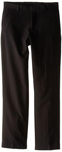 Calvin Klein Big Boys' Bi-Stretch Flat Front Pant, Black, 12 (Boys Black Pants compare prices)